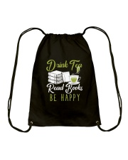 TEA BOOK HAPPY Drawstring Bag thumbnail