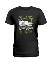 TEA BOOK HAPPY Ladies T-Shirt tile