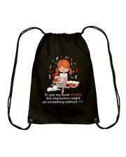 BOOK DOWN Drawstring Bag thumbnail