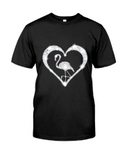 FLAMINGOS HEART Classic T-Shirt front