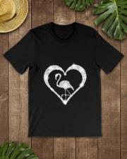 FLAMINGOS HEART Classic T-Shirt lifestyle-mens-crewneck-front-18