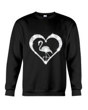 FLAMINGOS HEART Crewneck Sweatshirt thumbnail