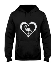 FLAMINGOS HEART Hooded Sweatshirt thumbnail
