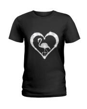 FLAMINGOS HEART Ladies T-Shirt thumbnail