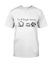 SOFTBALL COFFEE DOG Classic T-Shirt front