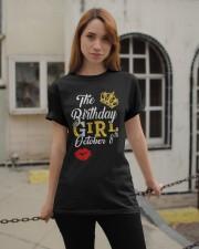 OCTOBER BIRTHDAY GIRL Classic T-Shirt apparel-classic-tshirt-lifestyle-19