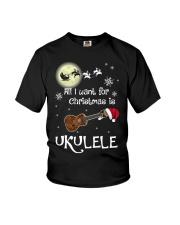 AII I WANT CHRISTMAS IS UKULELE Youth T-Shirt thumbnail