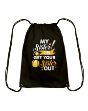 SOFTBALL MY SISTER Drawstring Bag thumbnail