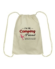 I AM THE CAMPING FRIEND Drawstring Bag thumbnail