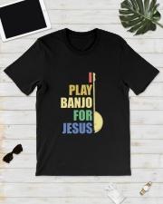I PLAY FOR JESUS BANJO Classic T-Shirt lifestyle-mens-crewneck-front-17