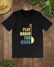 I PLAY FOR JESUS BANJO Classic T-Shirt lifestyle-mens-crewneck-front-18