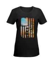 CAMPING SIMPLE WOMAN Ladies T-Shirt women-premium-crewneck-shirt-front