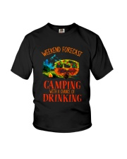 WEEKEND FORCAST CAMPING Youth T-Shirt thumbnail