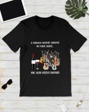 WOMAN WINE GUITAR Classic T-Shirt lifestyle-mens-crewneck-front-17