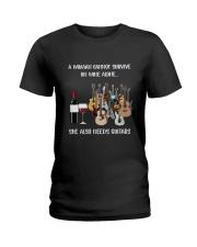 WOMAN WINE GUITAR Ladies T-Shirt thumbnail