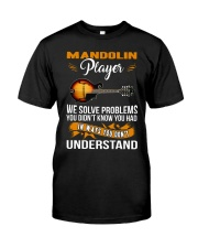 MANDOLIN PLAYER SOLVE PROBLEMS Classic T-Shirt front