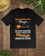 MANDOLIN PLAYER SOLVE PROBLEMS Classic T-Shirt lifestyle-mens-crewneck-front-18