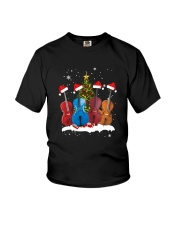TREE CHRISTMAS CELLO Youth T-Shirt thumbnail