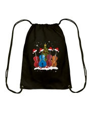 TREE CHRISTMAS CELLO Drawstring Bag thumbnail