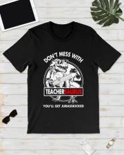 TEACHERSAURUS Classic T-Shirt lifestyle-mens-crewneck-front-17