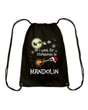 AII I WANT CHRISTMAS IS MANDOLIN Drawstring Bag thumbnail
