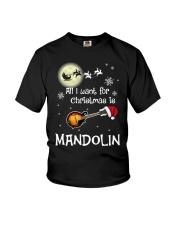 AII I WANT CHRISTMAS IS MANDOLIN Youth T-Shirt thumbnail