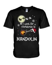 AII I WANT CHRISTMAS IS MANDOLIN V-Neck T-Shirt thumbnail