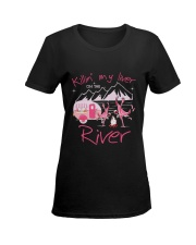 MY LIVER CAMPING Ladies T-Shirt women-premium-crewneck-shirt-front