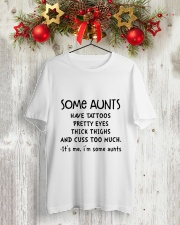 SOME AUNTS CUSS Classic T-Shirt lifestyle-holiday-crewneck-front-2