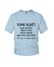 SOME AUNTS CUSS Youth T-Shirt thumbnail