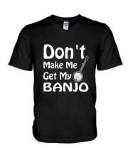 DON'T MAKE ME BANJO V-Neck T-Shirt thumbnail