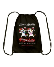 WINE BESTIES Drawstring Bag thumbnail