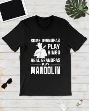 REAL GRANDPAS PLAY MANDOLIN Classic T-Shirt lifestyle-mens-crewneck-front-17