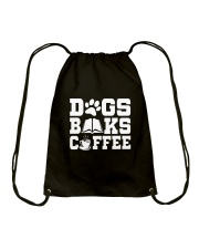 DOG BOOK COFFEE Drawstring Bag thumbnail