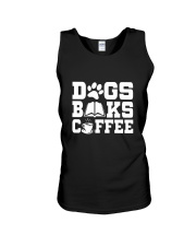 DOG BOOK COFFEE Unisex Tank thumbnail