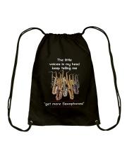 GET MORE SAXOPHONES Drawstring Bag thumbnail