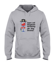 WINE DRINKING Hooded Sweatshirt thumbnail
