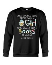 GIRL LOVE BOOKS Crewneck Sweatshirt thumbnail