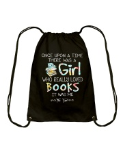 GIRL LOVE BOOKS Drawstring Bag thumbnail