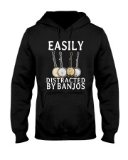 EASILY DISTRACTED BANJOS Hooded Sweatshirt thumbnail