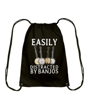 EASILY DISTRACTED BANJOS Drawstring Bag thumbnail