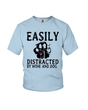 DISTRACTED WINE Youth T-Shirt thumbnail