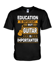 EDUCATION GUITAR V-Neck T-Shirt thumbnail