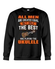 THE BEST PLAYING UKULELE Crewneck Sweatshirt thumbnail