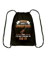WARNING I HAVE A UPRIGHT BASS Drawstring Bag thumbnail