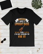 WARNING I HAVE A UPRIGHT BASS Classic T-Shirt lifestyle-mens-crewneck-front-17