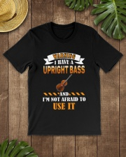 WARNING I HAVE A UPRIGHT BASS Classic T-Shirt lifestyle-mens-crewneck-front-18
