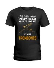 TELLING ME TROMBONE Ladies T-Shirt thumbnail
