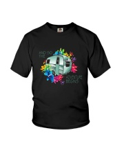 CAMPING ADVENTURE BEGINS Youth T-Shirt thumbnail
