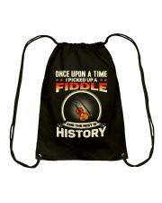 I PICK UP A FIDDLE Drawstring Bag thumbnail
